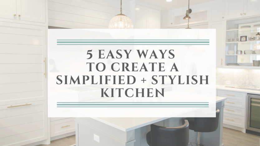 Classic Modern Simplified Style Kitchen