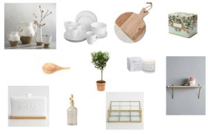 White + Wood Essential Kitchen Accessories
