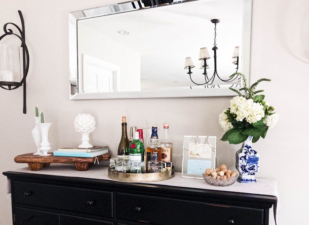 White Console Table Styling